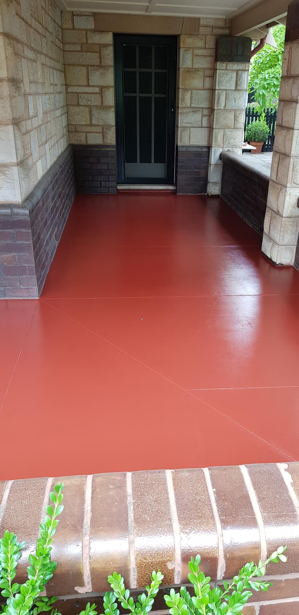 43 Marlborough St Westbourne Park porch floor after